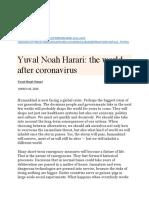 YUVAL NOAH HARARI-The World After Coronavirus