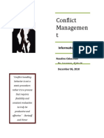 Conflict Management (MTR Project)