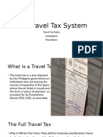The Travel Tax System