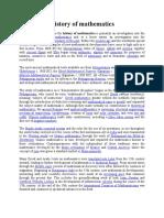 History of mathematics Text