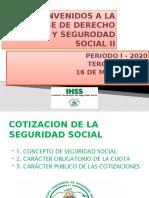 PRESENTACION DE LA CLASE DE DERECHO LABORAL Y S,S, II ,