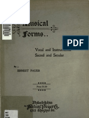 Pauer Musical Forms Stress Linguistics Metre Poetry