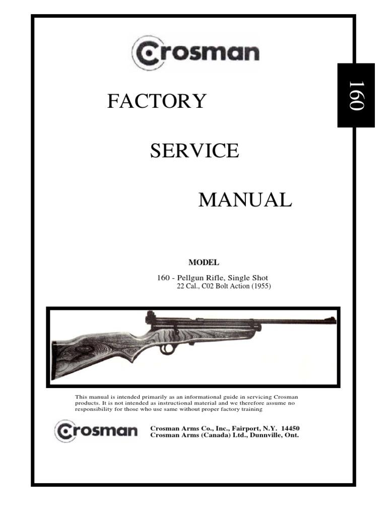 Crosman 160 Factory Service Manual | Trigger (Firearms) | Valve
