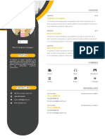 Orange Resume Template-WPS Office