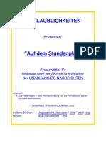 Unabhaengige Nachrichten - Auf Dem Stun Den Plan Nr. 01-43 (2005, 148 S., Text)