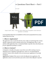 Android Interview Questions Cheat Sheet