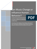 Can Music Change or Influence Human Behavior