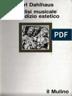 Carl Dahlhaus - Analisi Musicale e Giudizio Estetico