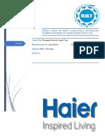 Project On Haier pakistan