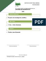 Informe de diagnóstico - Proyecto de investigación científica - Prof Peralta - 2020