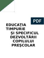 educatiatimpuriesispecificuldezvoltariicopiluluiprescolar