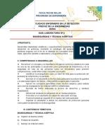 GUIA  LABORATORIO BIOSEGURIDAD Y TÃ_CNICA ASÃ_PTICA