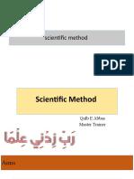 Topic 1 Scientific Method
