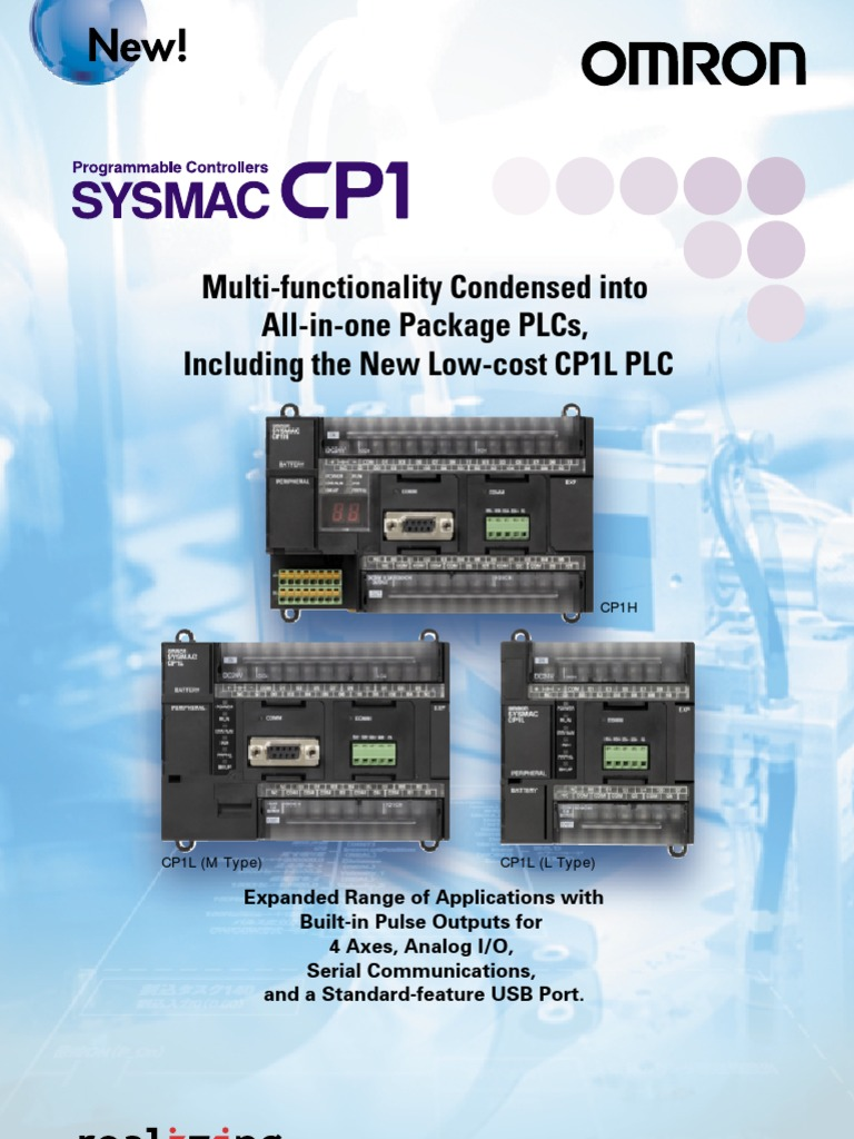OMRON PLC Data Sheet | Programmable Logic Controller | Input/Output