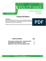 Whips Policy Brief Property Tax Reform Final Passage