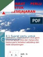 8.1 Syarat Perlu Untuk Kesejajaran.pptx