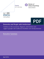 Dementia and People With Intellectual Disabilities
