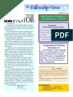 Dec 14, 2010 Fellowship News
