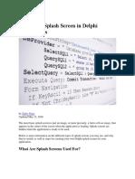 Creating a Splash Screen in Delphi Applications