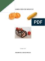RESUMEN IDEA DE NEGOCIO PANADERIA