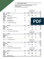Analisis de costos unitarios tapas