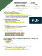 FICHA FORMATIVA  CORREÇÃO10º