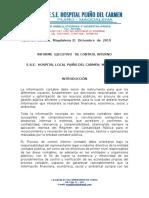 INFORME  EJECUTIVO control interno pijiño DIC  2019