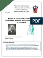 Modelo de Auto cuidado Dorothea Oren (autocuidado, déficit del autocuidado y sistemas de enfermería).pdf