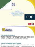 DERECHO DE PETICION QUEJA O RECLAMO
