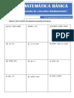 Matemática básica (lista 2020)