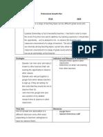 teacher professional growth plan
