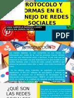 PROTOCOLO Y NORMAS EN EL  MANEJO DE REDES SOCIALES