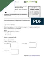 Guía adición y sustracción decimales