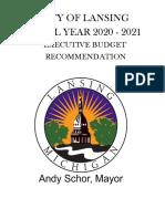 Lansing Mayor Schor's 2021 budget proposal