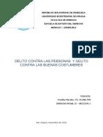 DELITO CONTRA LAS PERSONAS Y LAS BUENAS COSTUMBRES (DERECHO PENAL II)