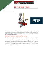 LEE PRO 4000 PRESS