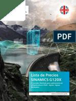 Lista de Precios - SINAMICS G120X - VF