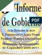 INFORME DE GOBIERNO 2010