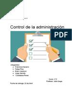 Control de la administración
