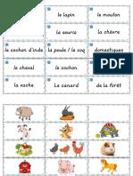 Portes-mots lexicaux - les animaux1