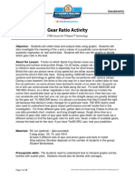 Gear Ratio Activity Teacher Notes