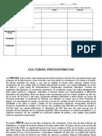 ACTIVIDAD CUADRO COMPARATIVO CULTURAS PREHISPÁNICAS