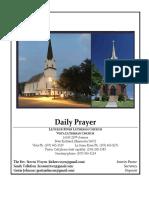 Daily Prayer for Mondays-Thursdays