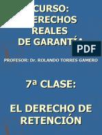 GARANTÍAS REALES_7ªCLASE_LA RETENCION