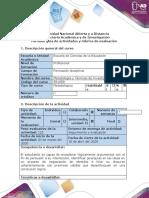 Guía de actividad y rúbrica de evaluación - Paso 3 - Formular un problema de investigación y seleccionar bibliografía pertinente
