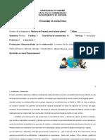 Programa de curso  Historia  Global de Panamá