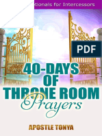 40-Days of Throne Room Prayers by Apostle Tonya