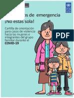 Cartilla de orientación para casos de violencia hacia las mujeres e integrantes del grupo familia