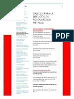 CÁLCULO PARA LA EJECUCIÓN DE ROSCAS (ROSCA MÉTRICA) - roscasdanielalex