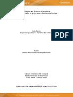 Taller No. 1 Práctico Sobre Funciones y Límites